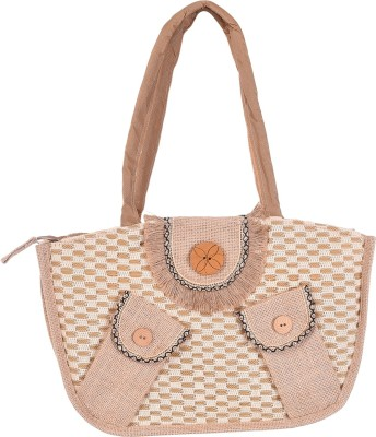 Ethnic Rajasthan Hand-held Bag(Beige)  available at flipkart for Rs.349
