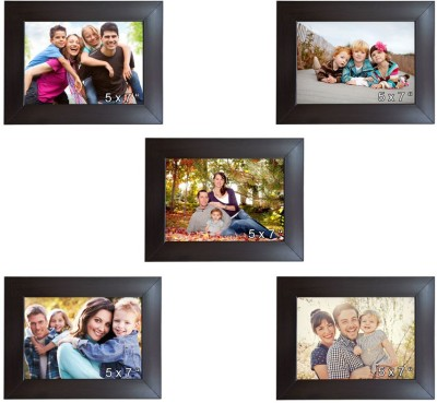 Trends on Wall Acrylic Photo Frame(Brown, 5 Photos) at flipkart