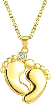 Yellow Chimes Express Your Feelings Collection 18K Rose Gold Plated Butterfly Pendant Copper Stainless Steel Locket