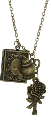 Access-O-Risingg Beauty and The Beast Inspired Tea Pot And Rose Pendant Alloy Pendant