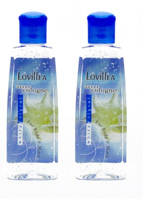 Lovillea Gelly Cologne White Floral Pack of 2 Eau de Cologne  -  100 ml(For Men & Women)  available at flipkart for Rs.200