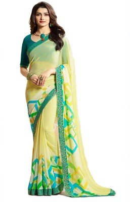 Bombey Velvat Fab Printed Daily Wear Georgette, Chiffon Saree(Multicolor)