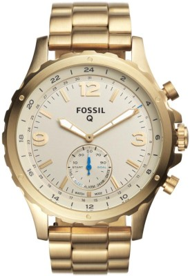 Fossil FTW1142 Q Hybrid Watch Smartwatch(Gold Strap Free Size)