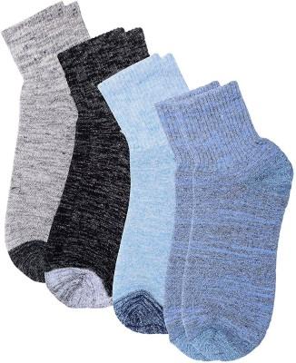 Polon Men's Ankle Length Socks(Pack of 4)