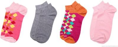 Polon Men's & Women's Low Cut Socks(Pack of 4)