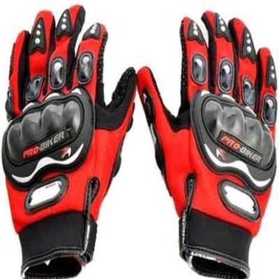 Ak Kart Akkart Pro Biker Driving Glove  M, Red  Black  Riding Gloves Red, Black