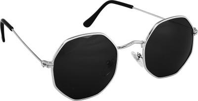 Deixels Round Sunglasses(Black)