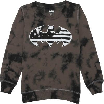 Batman Full Sleeve Graphic Print Boys Sweatshirt at flipkart