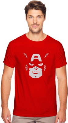 BOOK MY TEES Printed Men Round Neck Red T-Shirt
