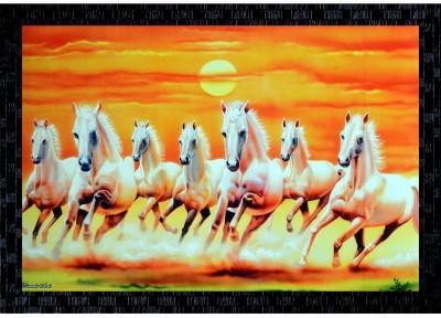 51 Off On Janki Lucky Seven 7 White Running Horses Vastu Wall