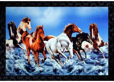 60 Off On Janki Lucky Seven 7 White Running Horses Vastu Wall