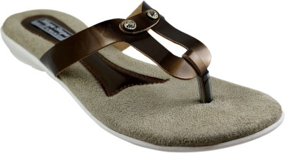 Mega Steps Women Brown Flats