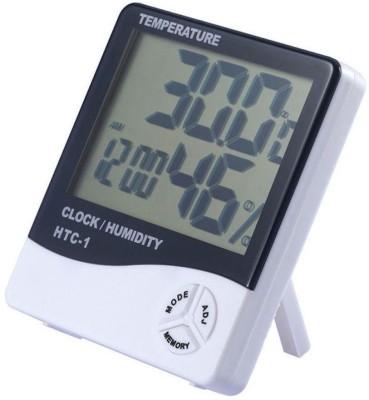BalRama Hygrometer Clock / Humidity / Temperature / Alarm HTC-1 Thermometer(White)