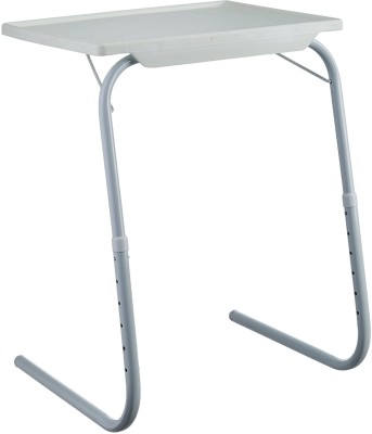 EasyHome Tablemate Adjustable Plastic Portable Laptop Table Multipurpose Study Table White Changing Table