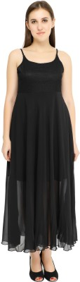 GROB MARCHE Women Fit and Flare Black Dress
