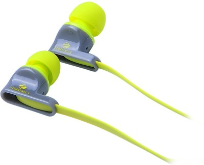 Zebronics EM 950 with mic Wired Headset with Mic(Green, In the Ear) 1