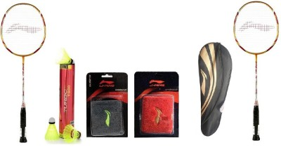 Li-Ning Combo Of Six- 'Two 'G-Tek 98 I I ' Badminton racket, One 'Turbo T800' Nylon shuttle Cock , Two Wrist band And One Kitbag (Color On Availability)- Badminton Kit  available at flipkart for Rs.7540