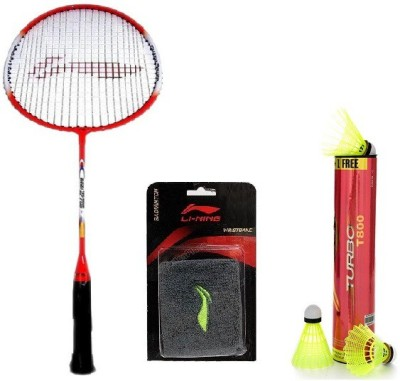 Li-Ning Combo Of Three - One 'Smash XP 709' Badminton racket, One 'Turbo T800' Nylon shuttle Cock (Pack of 6) and one Wrist Bands (Color On Availability)- Badminton Kit  available at flipkart for Rs.1939