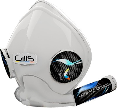 Gills Max Advanced Air Pollution , Bike mask Large white Mask and Respirator