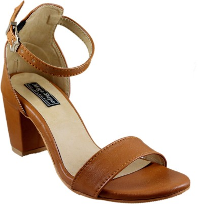 Mega Steps Women Tan Heels