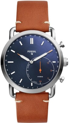 Fossil FTW1151 Hybrid Watch Smartwatch(Brown Strap Free Size)
