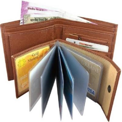 Maximas Boys Tan Artificial Leather Wallet 10 Card Slots