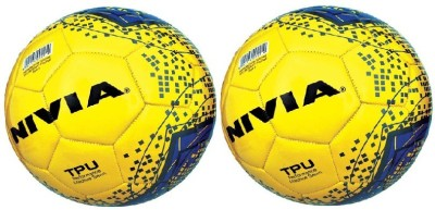 Nivia 'Revolvo' (Pack of 2) (Color On Availability) Football -   Size: 5(Pack of 2, Multicolor)  available at flipkart for Rs.999
