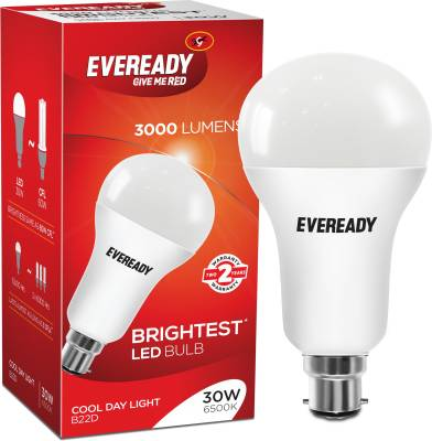 Eveready 30 W Round B22 LED Bulb