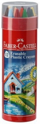 Faber-Castell 14 Erasable Crayon Tin With Gold & Silver(Assorted)