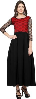 Vixenwrap Women A-line Red, Black Dress