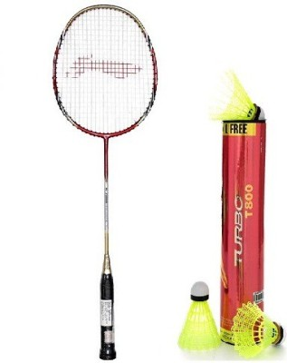 Li-Ning Combo Of Two- One 'G-Force Pro 2200i' Badminton racket And One 'Turbo T800' Nylon shuttle Cock (Color On Availability)- Badminton Kit  available at flipkart for Rs.3900