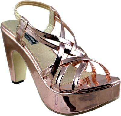 Mega Steps Women Brown Heels