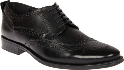 Knotty Derby Walden Brogue Derby Lace Up For Men(Black)
