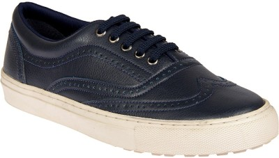 Knotty Derby Alecto Wing Cap Brogue Sneakers For Men(Navy)
