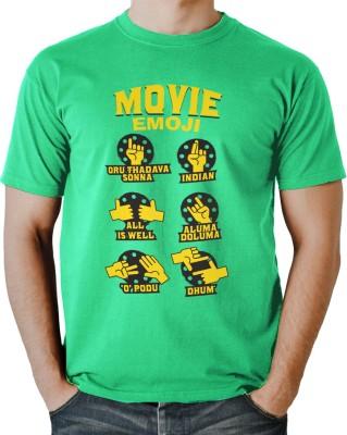 INSTYLEE Printed Men Round Neck Green T-Shirt