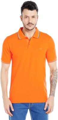 Zido Solid Men's Polo Neck Orange T-Shirt