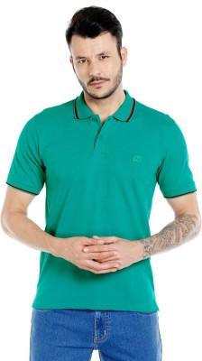 Zido Solid Men's Polo Neck Green T-Shirt