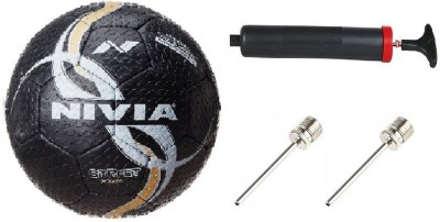 Nivia Combo of 3, Street Football , Pump, and Two Needle Football -   Size: 5(Pack of 1, Multicolor)  available at flipkart for Rs.920