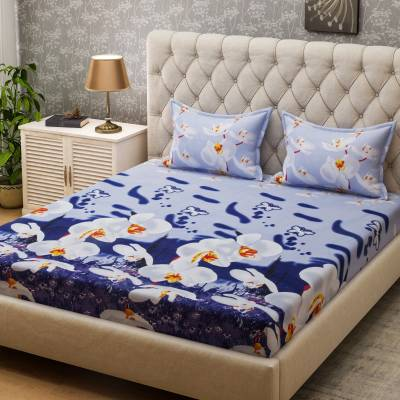 Bombay Dyeing Microfiber Floral Queen sized Double Bedsheet