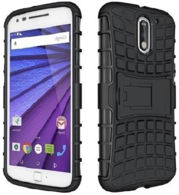 NKCASE Back Cover for Motorola Moto E3 Power(BLACK, Shock Proof, Rubber)