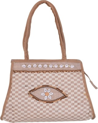 Ethnic Rajasthan Hand-held Bag(Beige)  available at flipkart for Rs.399