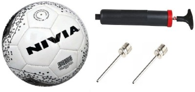 Nivia Combo of three, One 'Revolvo' Football, One Pump, and Two inflation needle (Color On Availability) . Football Kit  available at flipkart for Rs.650