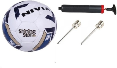 Nivia Combo of 3 ,One 'Shining Star-2022' Football, One Pump , and Two Needle- Football Kit  available at flipkart for Rs.1100