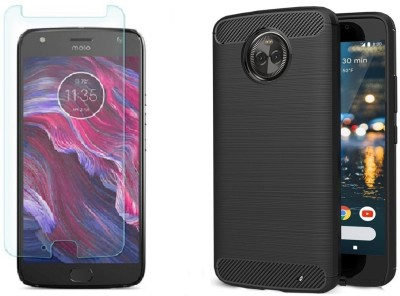 Craftech Screen Protector Accessory Combo for Moto X4(Transparent)