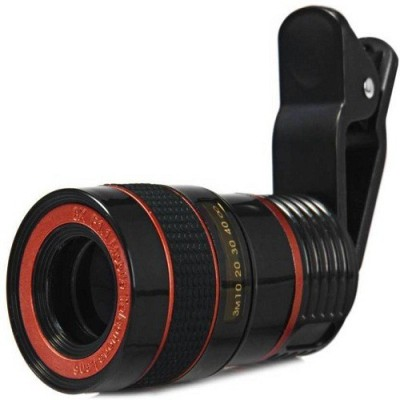 VU4 Universal 8X Zoom Telescope Camera + Adjustable Holder Mobile Phone Lens(Wide and Macro)