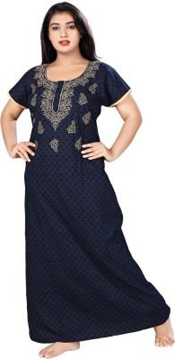 Mahaarani Women Nighty(Blue)