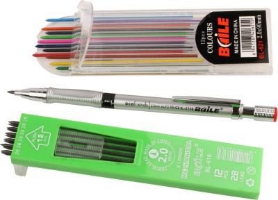 Kabeer Art Baile Mechanical Pencil With Lead Round Shaped Pencils(Set of 1, Multicolor)  available at flipkart for Rs.135