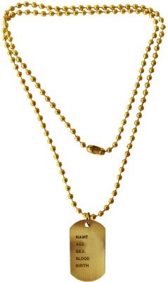 Menjewell Classic new Collection Army Style Name Dog Tags Metal Pendant  available at flipkart for Rs.249
