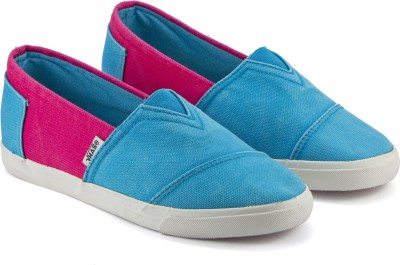 DeVEE Portbou Espadrille Sky Blue - Pink Espadrilles For Women(Blue, Pink)