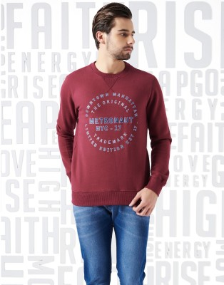 Metronaut Full Sleeve Printed Men Sweatshirt at flipkart